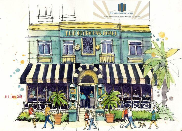 James Richards Sketchbook: Long layover in Los Angeles