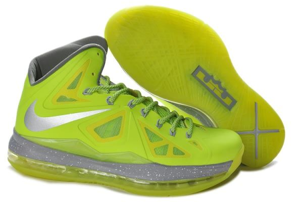 Nike Air Max LeBron James X Grass-Green Basketball shoes