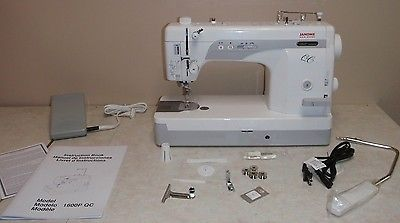Рriсе - $1,149.00. Janome 1600P-QC High-Speed Straight-Stitch Machine--AUTHORIZED JANOME DEALER ( Brand - Janome, MPN - 1600p-qc-value-pkg-whole, Operation - Mechanical, Model - 1600P-QC, Type - Sewing, Class - Household, Features - Bobbin-Winding, UPC - Does not apply    )