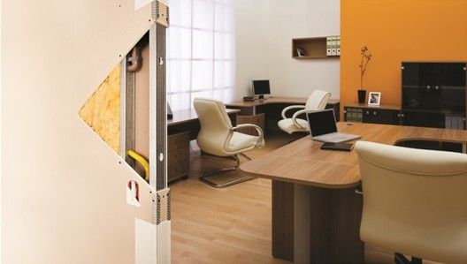 Isolamento acústico: quando e como utilizar,Sistema drywall. Image © Placo Brasil