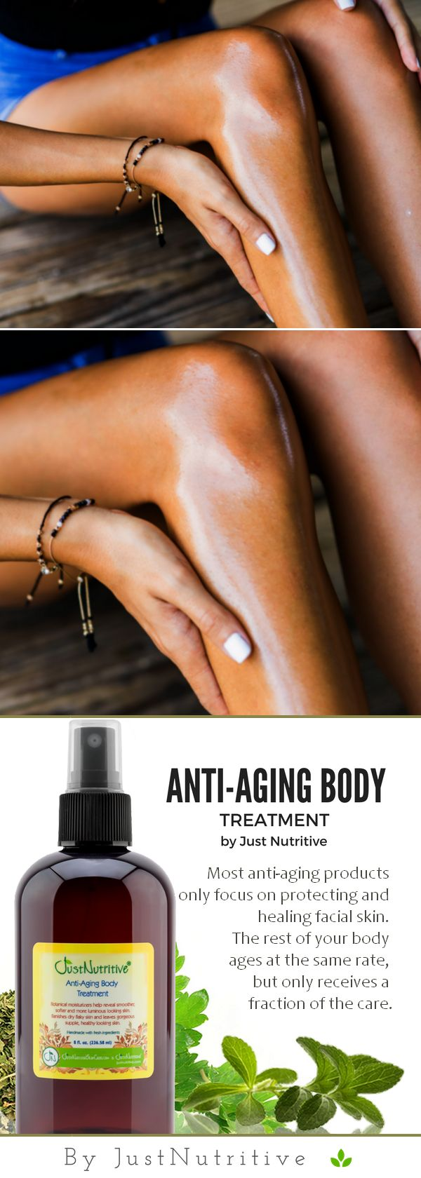Imagine easily improving the look and feel of your skin each day by simply applying the Anti-Aging Body Treatment