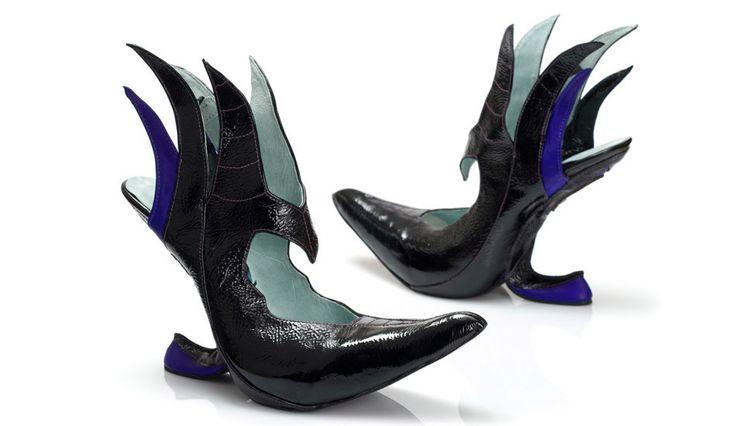 O designer Kobi Levi tem uma linha de sapatos super originais inspirados das bruxas da Disney. Este modelo é inspirado na bruxa má do filme 'A Bela Adormecida'.