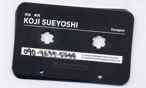 cartão em formato de fita
