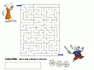 Maternelle: Le loup, la chèvre et les sept chevreaux, exploitation en mathématiques