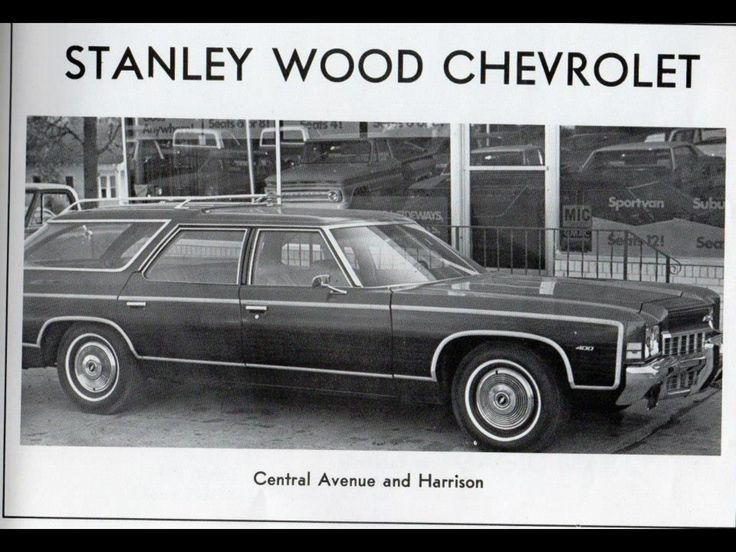 Here is an old ad of Stanley Wood Chevrolet featuring an early 1970s Chevy station wagon.