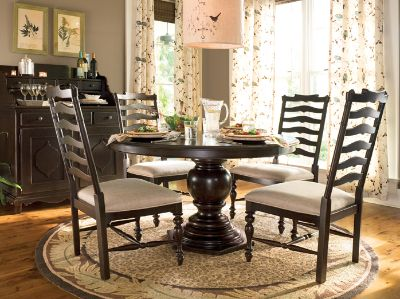 Paula Deen Home 5 Piece Round Pedestal Dining Table Set   Tobacco   with  Mike Chairs   A casual yet elegant take on a luncheon table  this Paula  Deen Home 5  86 best Canal Kitchen   Dining images on Pinterest   Kitchen  . Pineapple Pedestal Dining Table And Chairs. Home Design Ideas