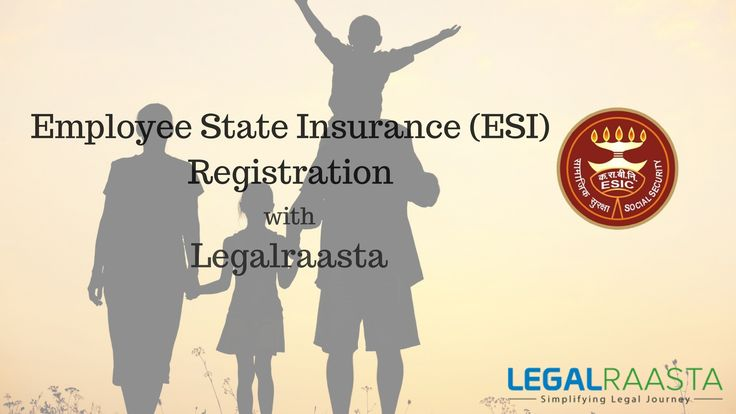 Employee State Insurance Corporation or ESIC is a self-financing social security and health insurance scheme which provides medical benefit, sickness benefit, maternity benefit, disablement benefit and various other benefits such as funeral expenses, free supply of physical aids etc. to the employees and their family. Apply for ESI Registration with Legalraasta in Delhi, NCR, Mumbai, Chennai, Bengaluru or other cities at best prices. LegalRaasta is online CA / agent for all Legal Services.