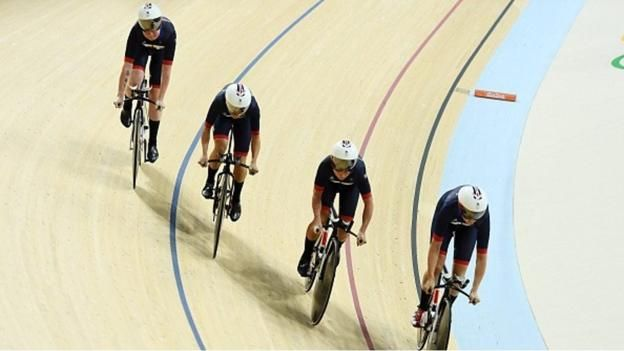 GB women set a new world record of 4:13.260 while qualifying for the team pursuit final. 11th August 2016