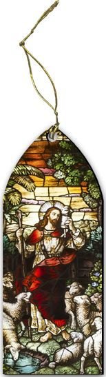 Good Shepherd Stained Glass Wood Ornament - Catholic to the Max - Online Catholic Store