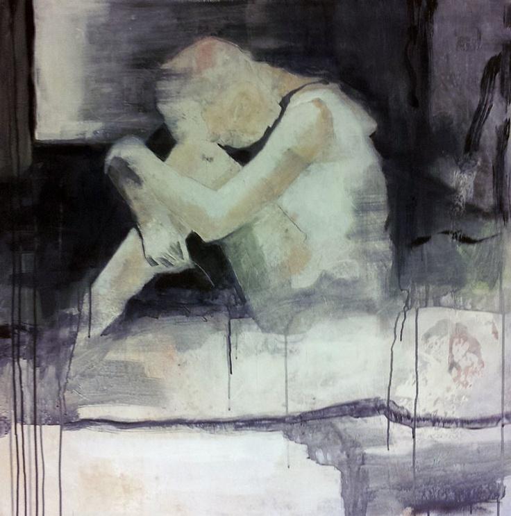 TENKENDE BY ANNE-BRITT KRISTIANSEN  #fineart #art #painting #kunst #maleri #bilde  https://annebrittkristiansen.com/paintings/2013/