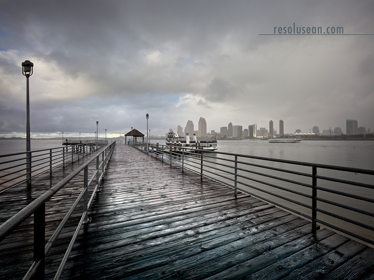 Coronado Ferry Landing rain Resolusean Photography