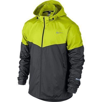 Brand New Mens Nike Vapor Wind Spray Hooded Jacket Grey Volt RRP $140 | eBay