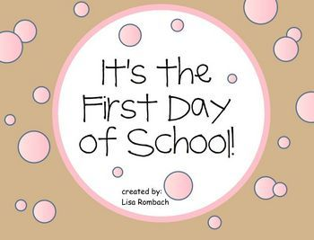 First Day of School SmartBoard Lesson (.notebook file) $Smart Boards ...