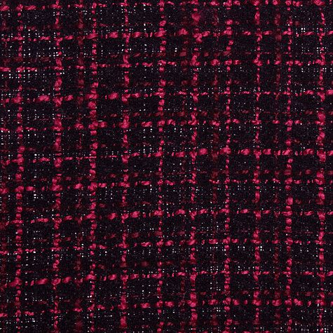 Buy Boucle Check Fabric, Pink/Black Online at johnlewis.com