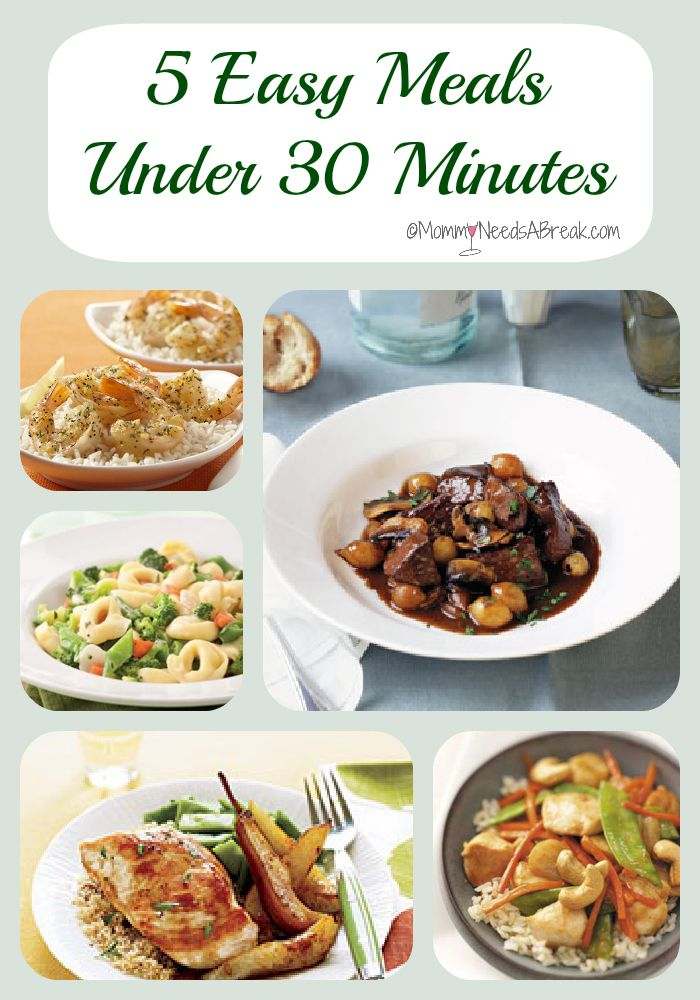 I can always use quick meal suggestions and these look not only easy but good!
