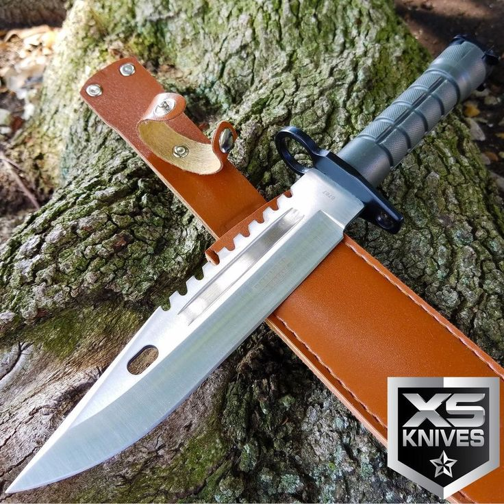 """13"""" TACTICAL SURVIVAL Bayonet Military COMBAT Fixed Blade Hunting Knife BOWIE 