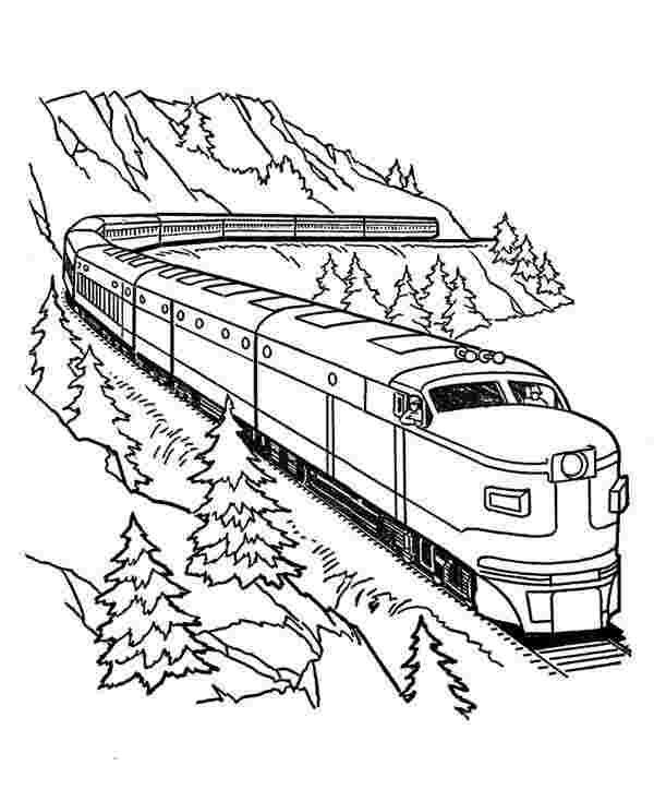 Train Coloring Pages Steam Engine In The Landscape Train Coloring Pages Train Drawing Coloring Pages
