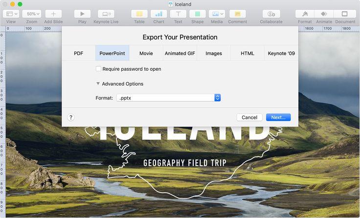 Convert keynote presentations to pdf microsoft powerpoint
