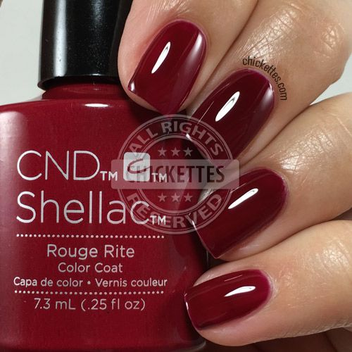 nails.quenalbertini: CND Shellac Rouge Rite | Chickettes