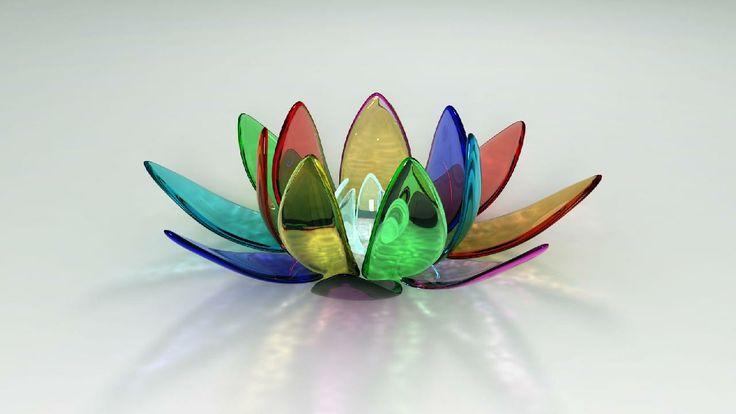 Beautiful Crystal Lotus Wallpaper