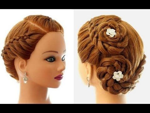 Hairstyle for everyday (4 Strand Braid). Updo for long hair