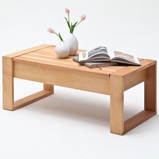 Victor Coffee Table In Core Beech With Lift Function 259 95finish Core Beech Features