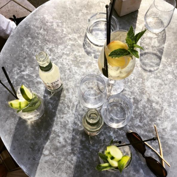 Ours is a Summer G&T with Diplôme Dry Gin and a cucumber & watermelon Double Dutch tonic. Cheers! 📸 Londonfooding