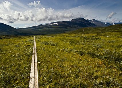 "Kungsleden.  Location: Sweden.  Also known as ""The King's Trail,"" Kungsleden, this 275-mile trek will give you a tour of some of Sweden's most beautiful landscapes — it runs through four national parks and a nature reserve. Unless you want to spend a month hiking, stick to the northernmost 65 miles.  (source: Alexandre Buisse, AlexandreBuisse.org)"