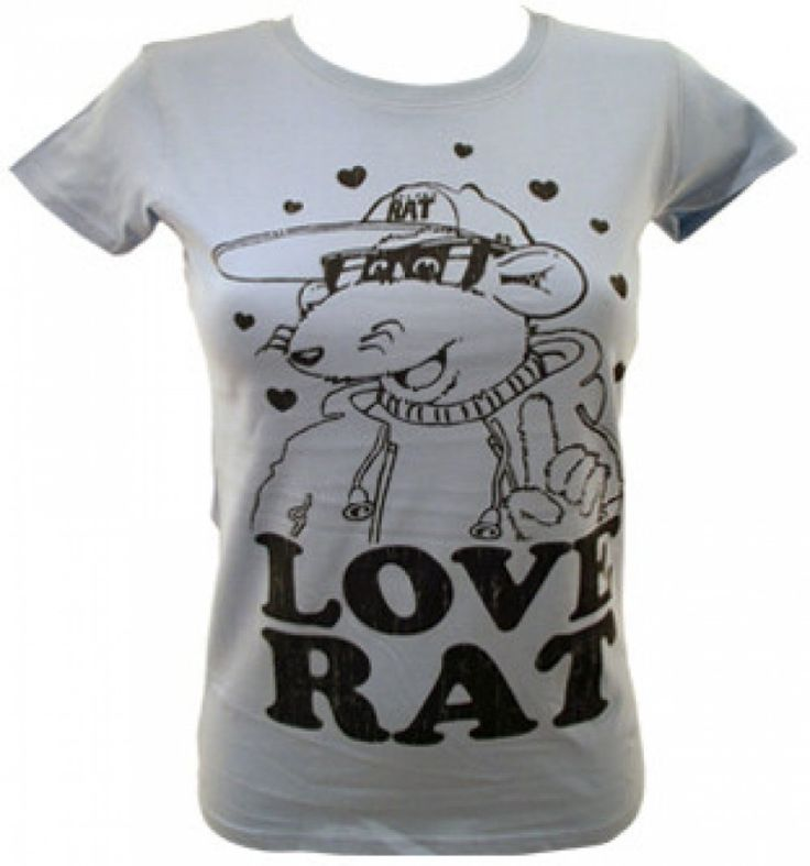 Roland Rat Love Rat New Official Ladies Skinny T-Shirt Various Sizes GET IT HERE ON THIS LINK http://ebay.eu/27aO9li