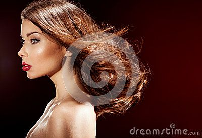 Beautiful Brunette Woman . - Download From Over 28 Million High Quality Stock Photos, Images, Vectors. Sign up for FREE today. Image: 48183645