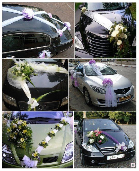 decoration voiture mariage cortege id es et d 39 inspiration sur le mariage. Black Bedroom Furniture Sets. Home Design Ideas