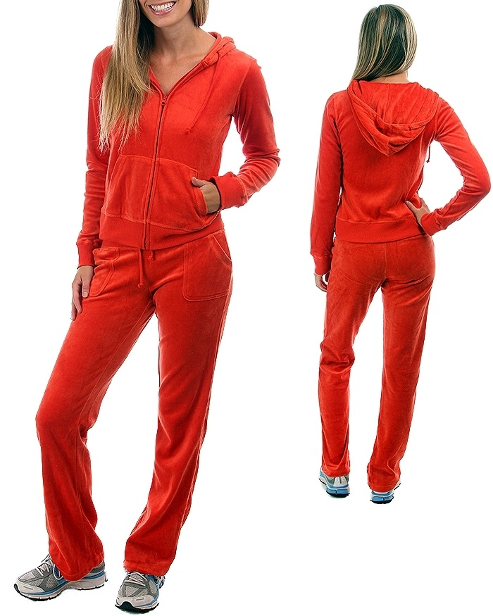 Give the bride sweat suit with great style. Matching bridal hoodies and sweatpant sets look great as a bridal sweat suit. For a personalized touch, create custom with your wedding colors. Choose from regular and plus sizes; velour, zip up and pull-over, in colors including white, black and pink.