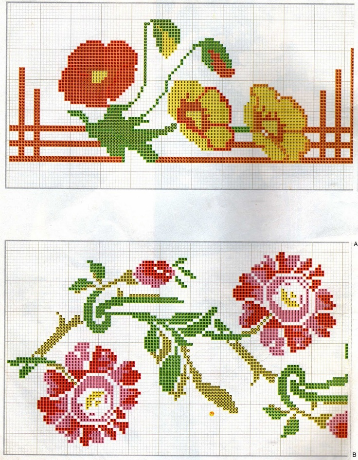 1000 images about cross stitch border on pinterest for Pinterest fiori