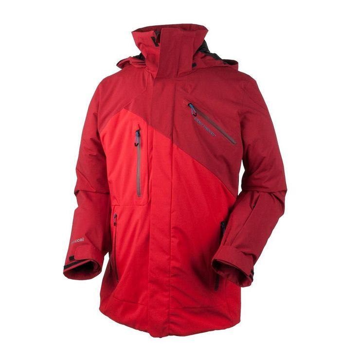 Obermeyer Mens Ski Jacket Poseidon True Red