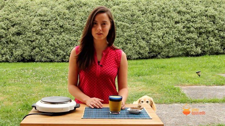 Receta leche dorada curso de nutrición y cocina Ayurveda