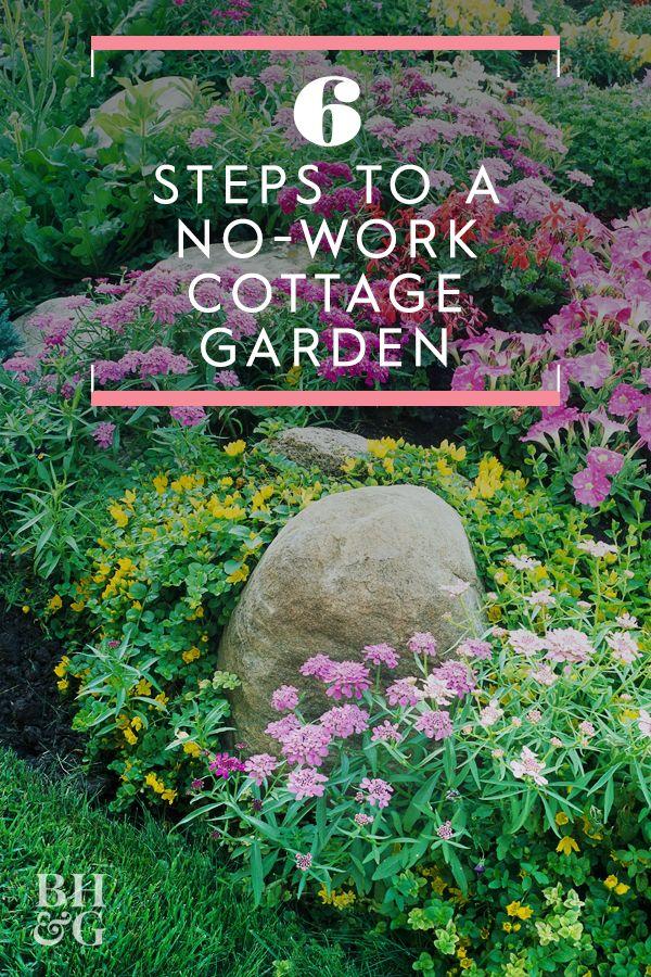 6 Steps To A No Work Cottage Garden Cottage Garden Cottage Garden Design Cottage Garden Plants
