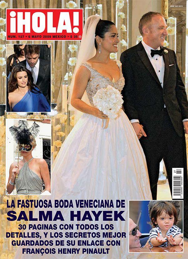 En nuestro #tbt de hoy recordamos la maravillosa boda veneciana de Salma Hayek y François Henry Pinault en el 2009