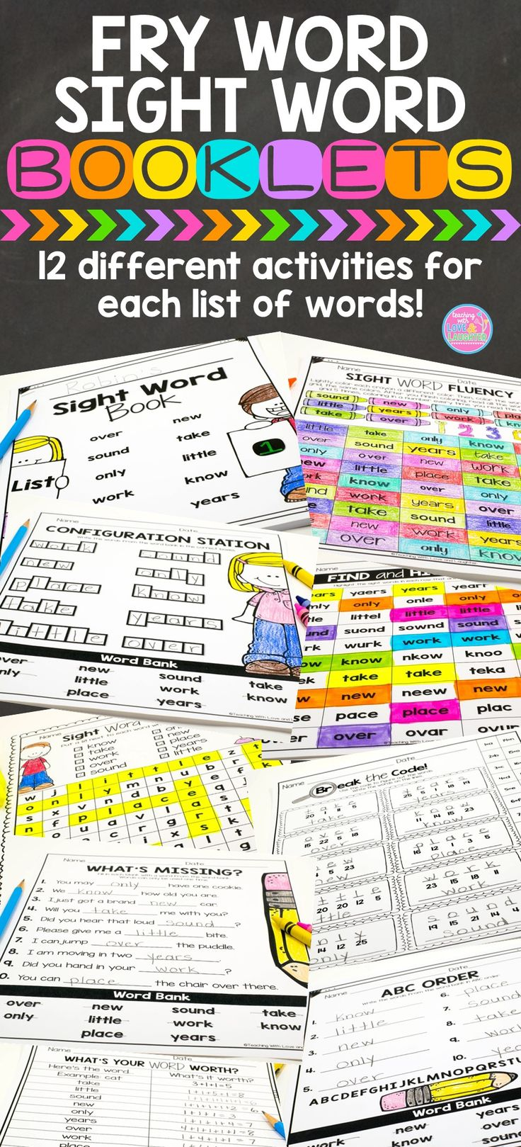 Fry Word Sight Word Packets: Covers the first and second hundred words. Contains…