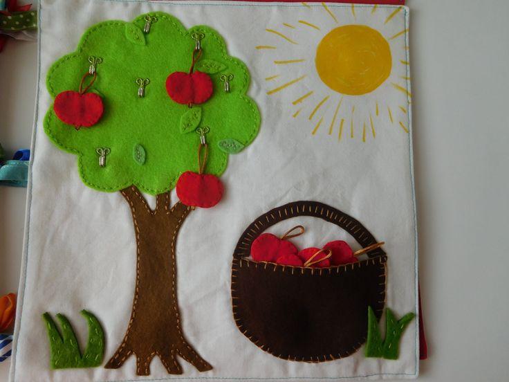 quiet book - jablíčka