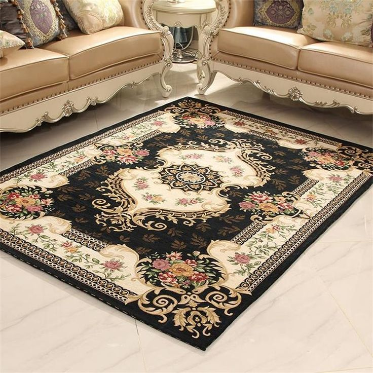 European Classical Palace Carpets For Living Room Home Bedroom Rugs And Carpets Coffee Table Floor Mat Anti-Slip Study Area Rug