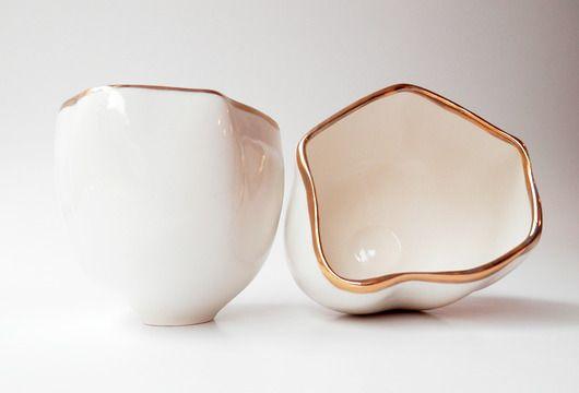 porcelana i szkło - kubki i filiżanki-dwie czarki