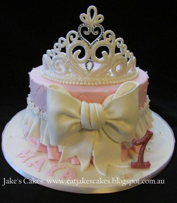 Baby girl birthday cake on Pinterest  Girls first birthday cake, Baby ...