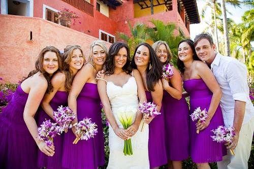 purple beach weddings | bridesmaid dresses beach wedding purple