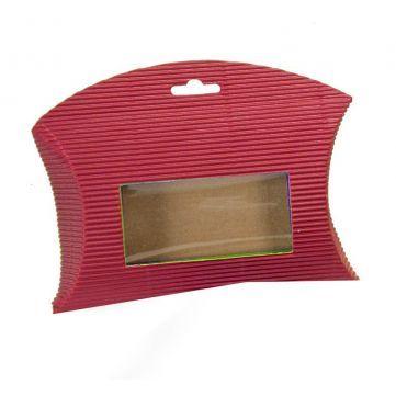 Cajita Sobre Microcanal Roja, esta cajita contiene ventana transparente, que permite ver el contenido. #diy