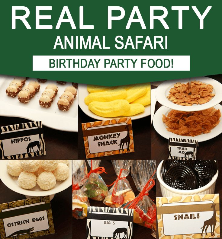 Be inspired by Arlene's simple and clever Safari Party Food Ideas. This party features my Printables which you can easily customize and print at home!