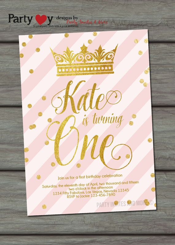 25 best ideas about Princess birthday invitations – Princess 1st Birthday Invitations