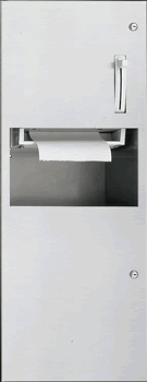 Towel Roll Dispenser and Waste Receptacle www.lockersnmore.com