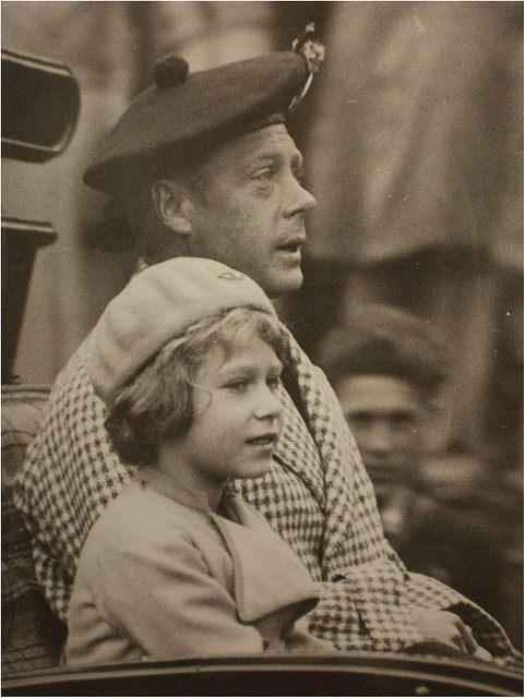 *KING EDWARD VIII ~ later Duke of Windsor, with his niece, Princess Elizabeth of York, later Queen Elizabeth II.