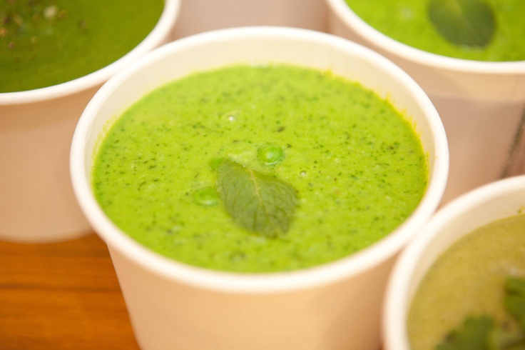 Pea and mint soup #eatingwell