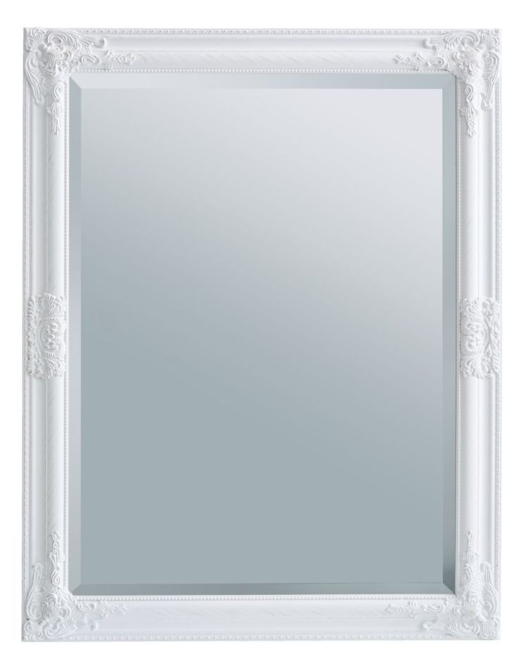 Zrkadlo RUDE 70x90 cm biela | JYSK
